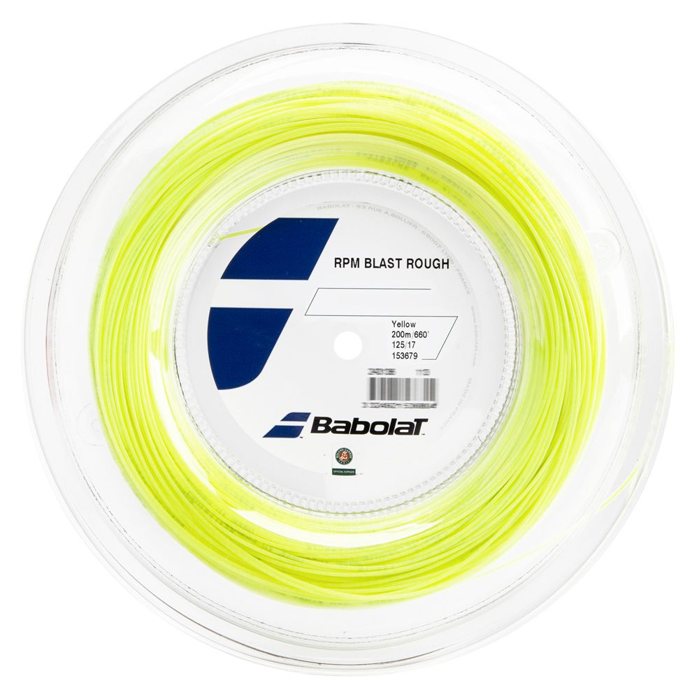 Corda Babolat RPM Blast Rough 17L 1.25mm Amarelo - Rolo Com 200 Metros