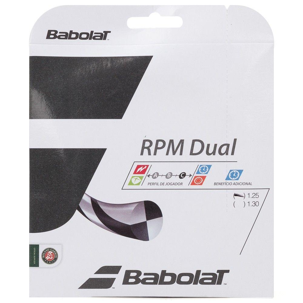 Corda Babolat RPM Dual 17L 1.25mm Preta - Set Individual