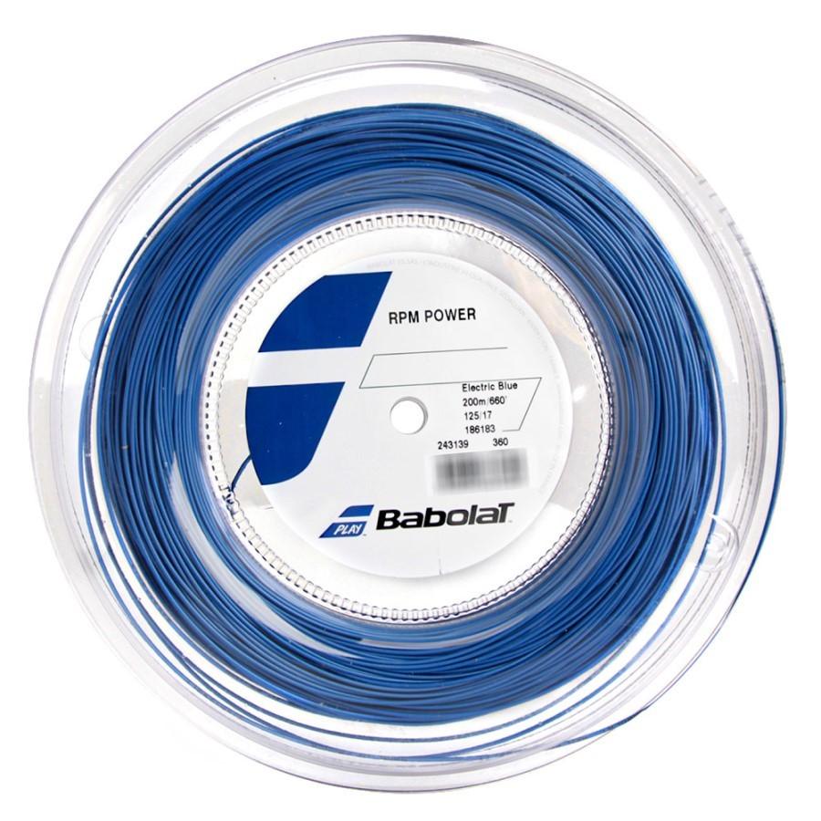 Corda Babolat RPM Power 17L 1.25mm Azul - Rolo Com 200 Metros