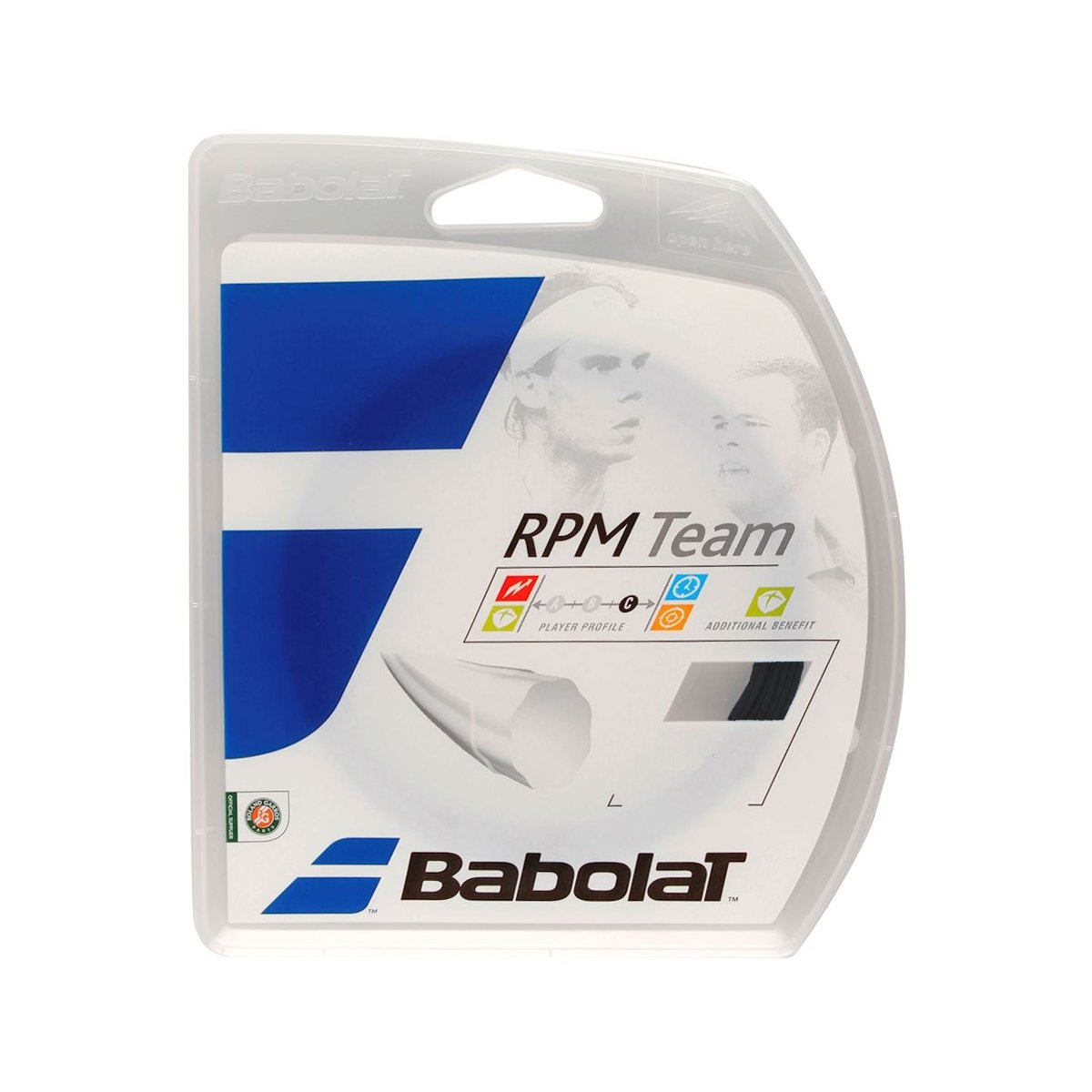 Corda Babolat RPM Team 16L 1.30mm Preta - Set Individual