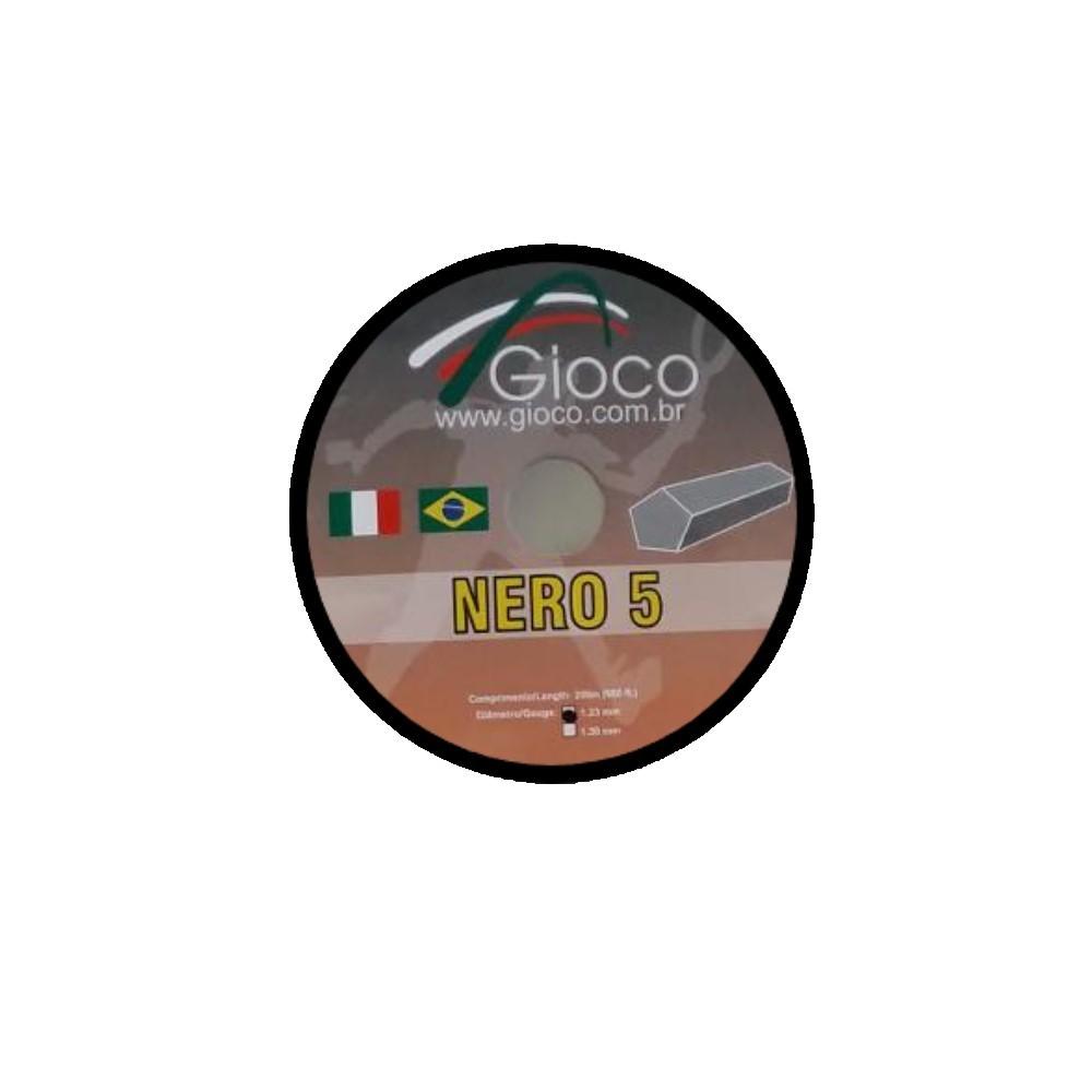 Corda Gioco Nero 5 1.23mm Set Individual Preto