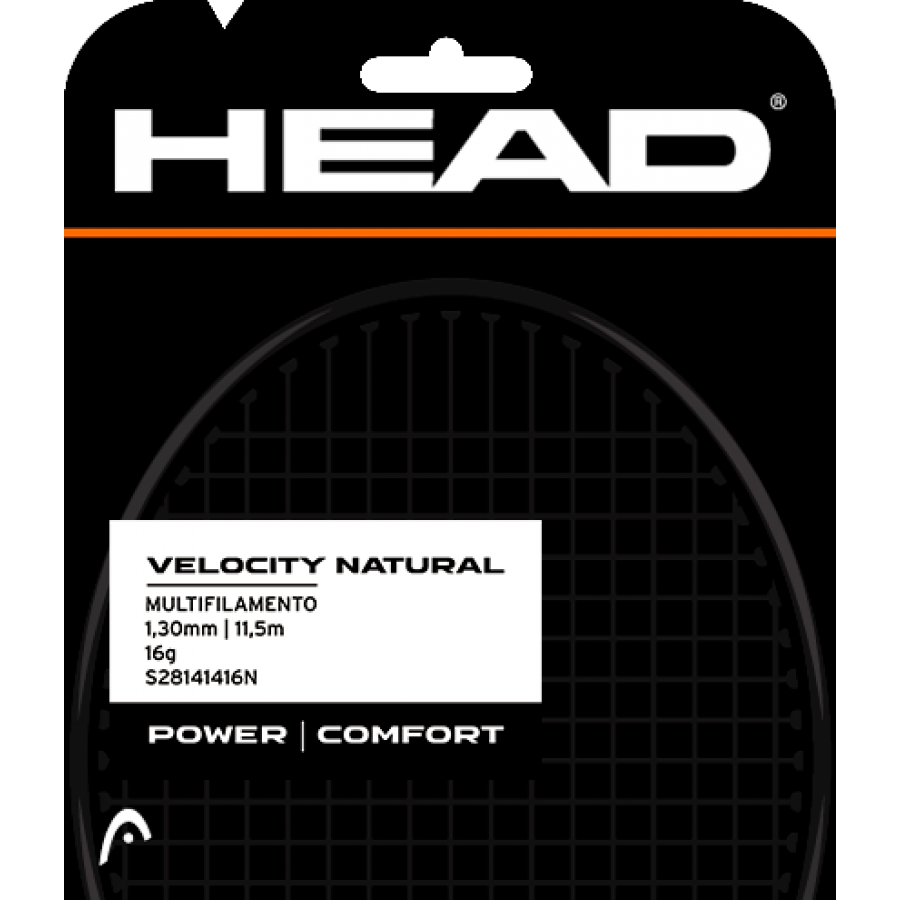Corda Head Velocity 16L 1.30mm Natural - Set Individual