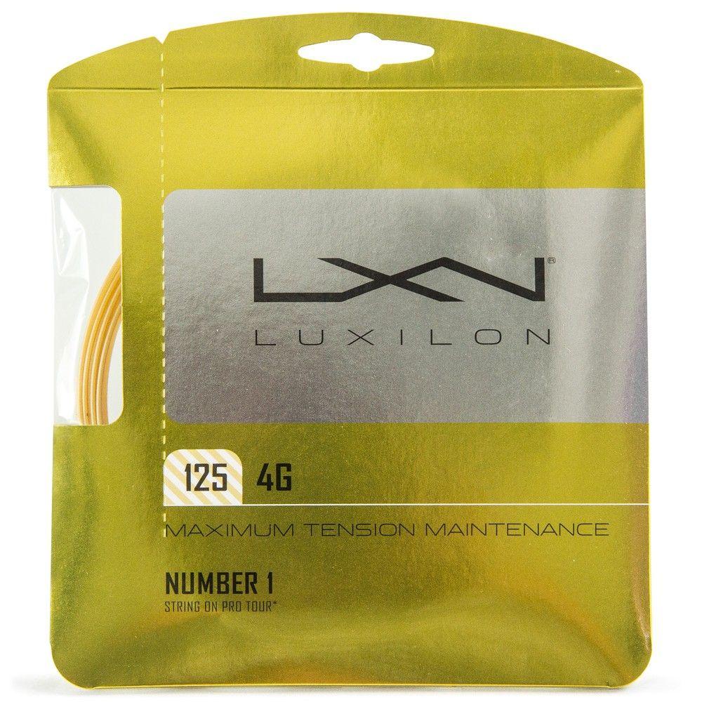 Corda Luxilon 4G 16L 1.25mm Amarela - Set individual