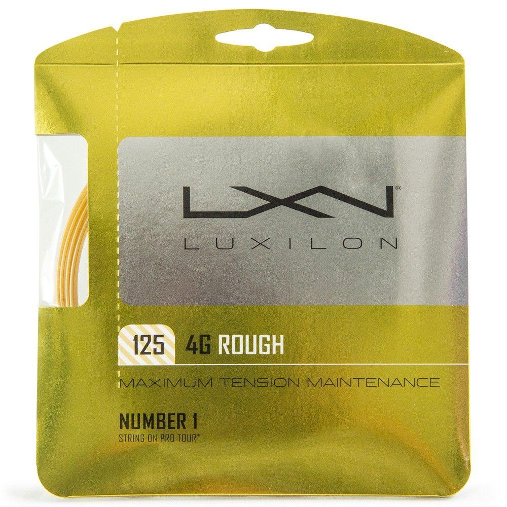 Corda Luxilon 4G Rough 16L 1.25mm Amarela - Set individual