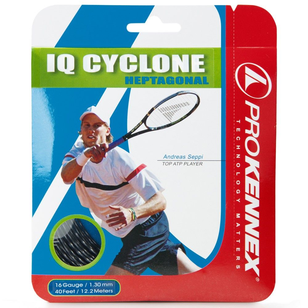 Corda Prokennex IQ Cyclone Heptagonal 16L 1.30mm Preta Set Individual