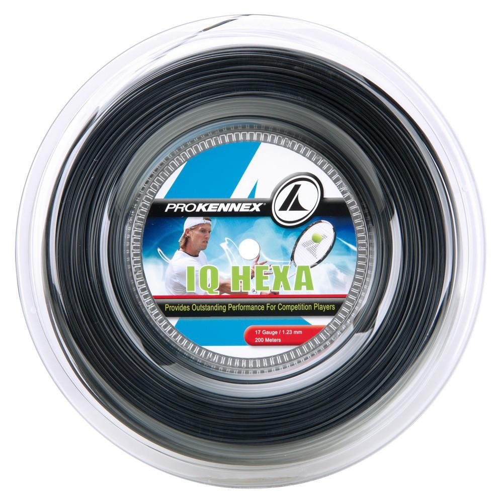 Corda Prokennex IQ Hexa 17L 1.23mm Preta - Rolo Com 200 Metros