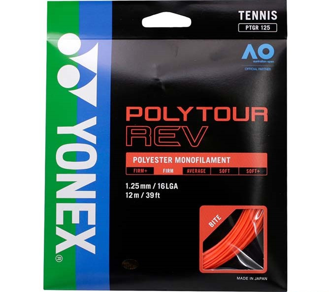 Corda Yonex Poly Tour Rev 16L 1.25mm Set Individual Laranja