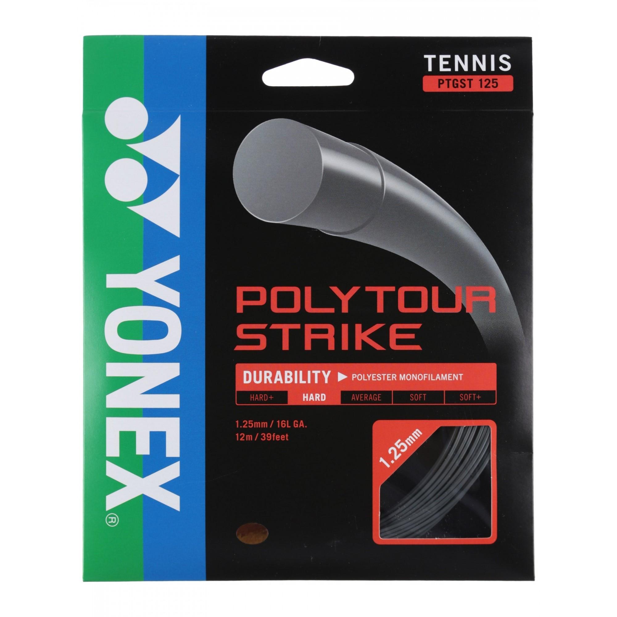 Corda Yonex Poly Tour Strike Cinza 16L 1.25mm Set Individual