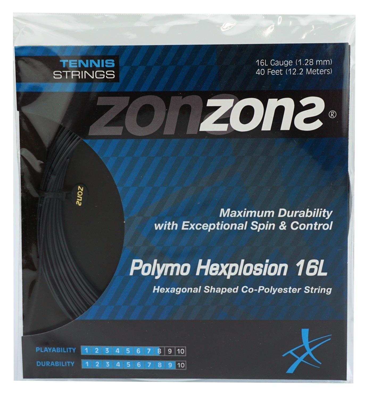 Corda Zons Hexplosion 16L 1.28mm Preta - Set Individual
