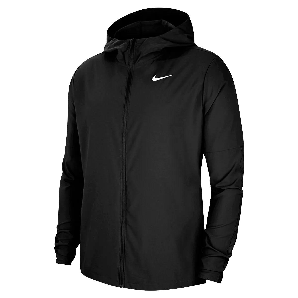 Jaqueta Corta Vento Nike Run Stripe Woven Preto - Masculina