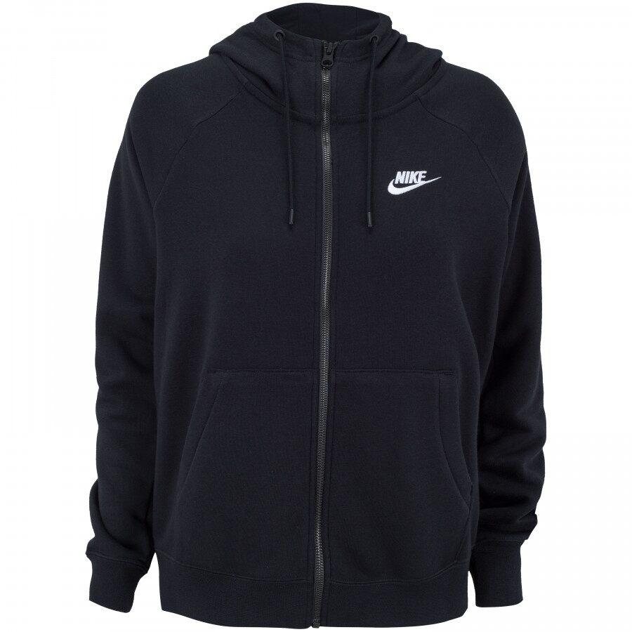 Jaqueta Nike NSW Essential Hoodie FZ FLC Preto - Feminino