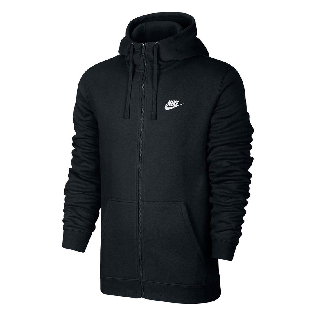 Jaqueta Nike NSW Hoodie FZ FLC Club Preto - Masculino