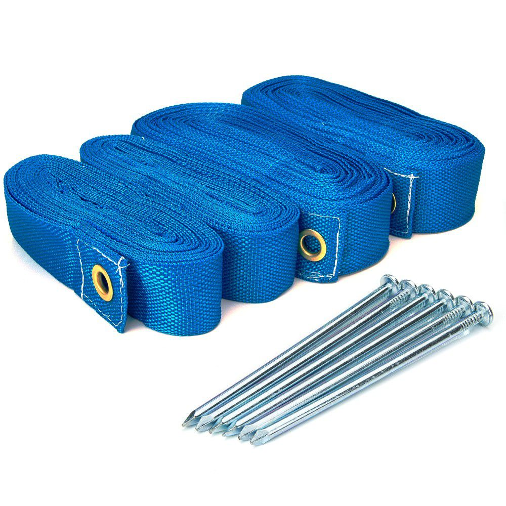 Marcação Para Beach Tennis Com Fixadores Spin Azul
