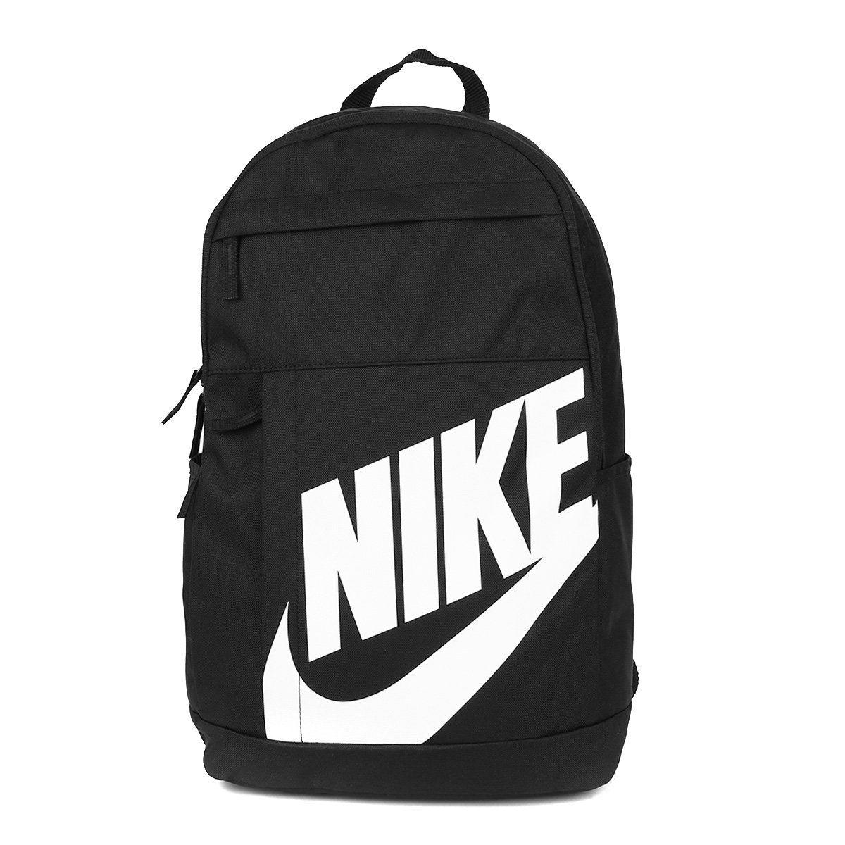 Mochila Nike Elemental 2.0 Preta e Branca