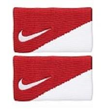 Munhequeira Nike Dri-Fit Doublewide 2.0 Vermelho e Branca