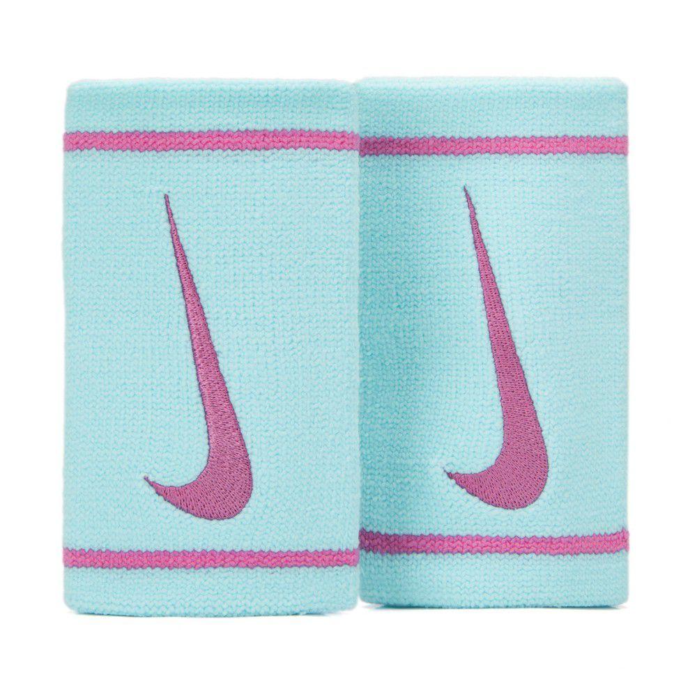 Munhequeira Nike Dri-Fit Doublewide Azul e Rosa