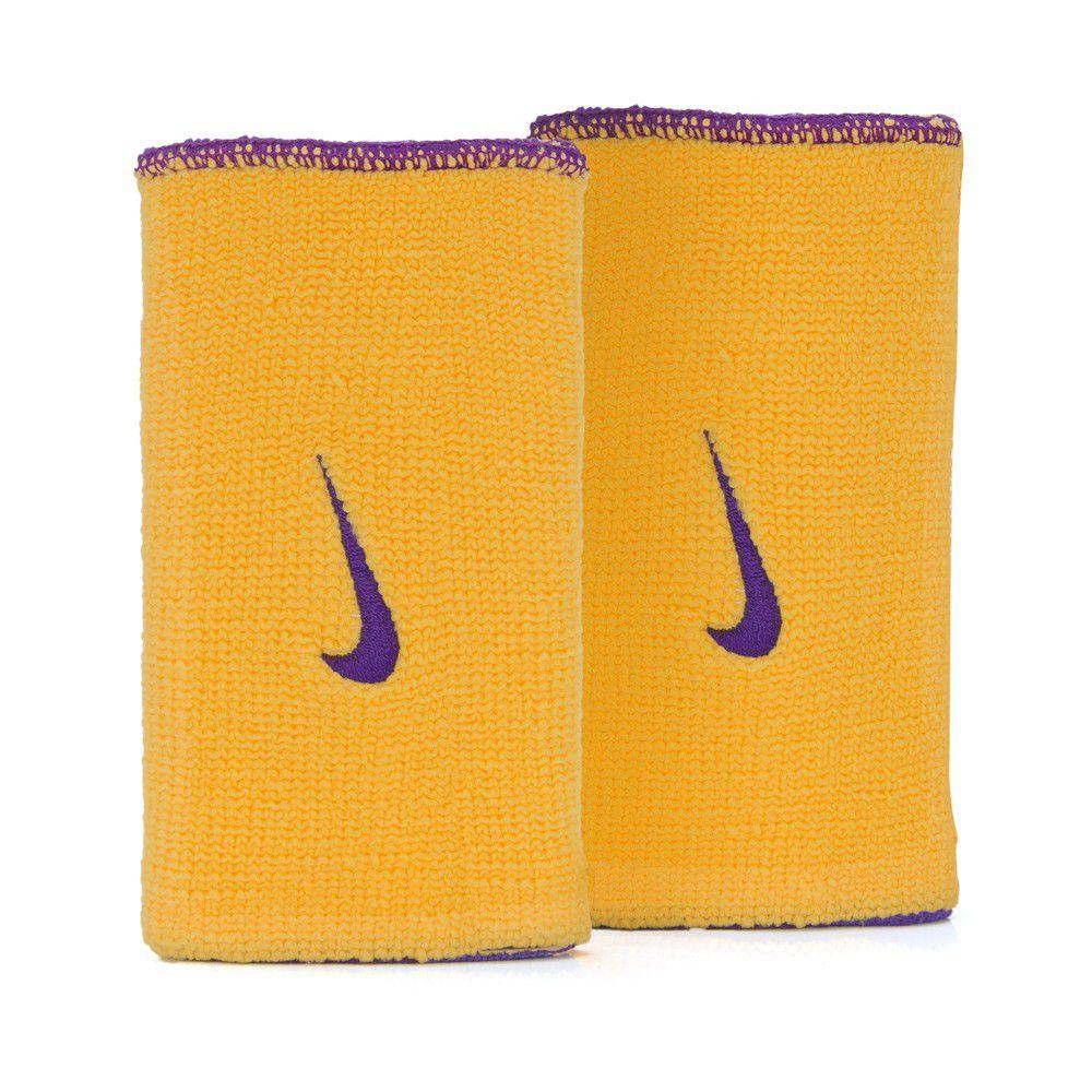Munhequeira Nike Dri-Fit Home & Away Amarelo e Roxo