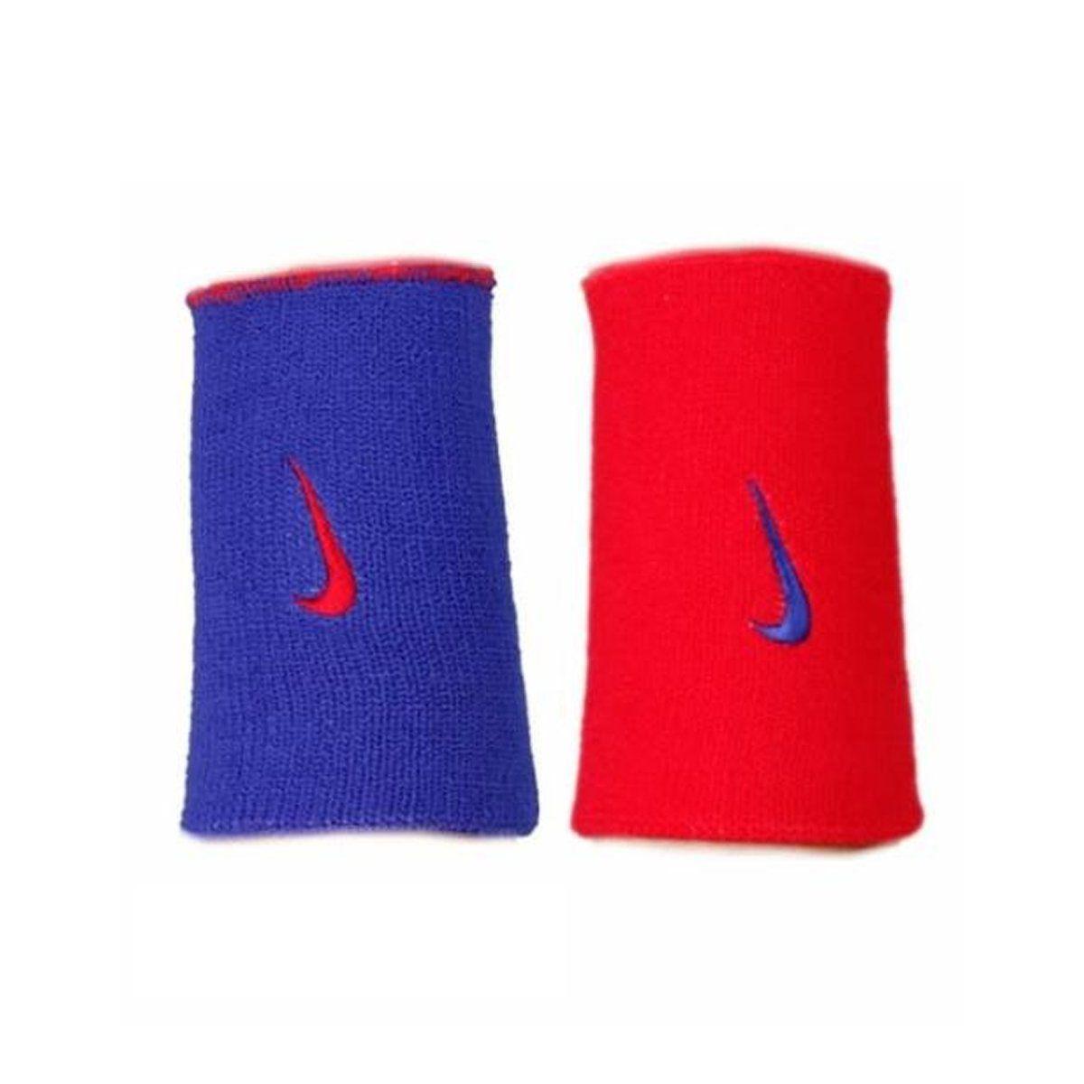 Munhequeira Nike Dri-Fit Home & Away Azul e Vermelho