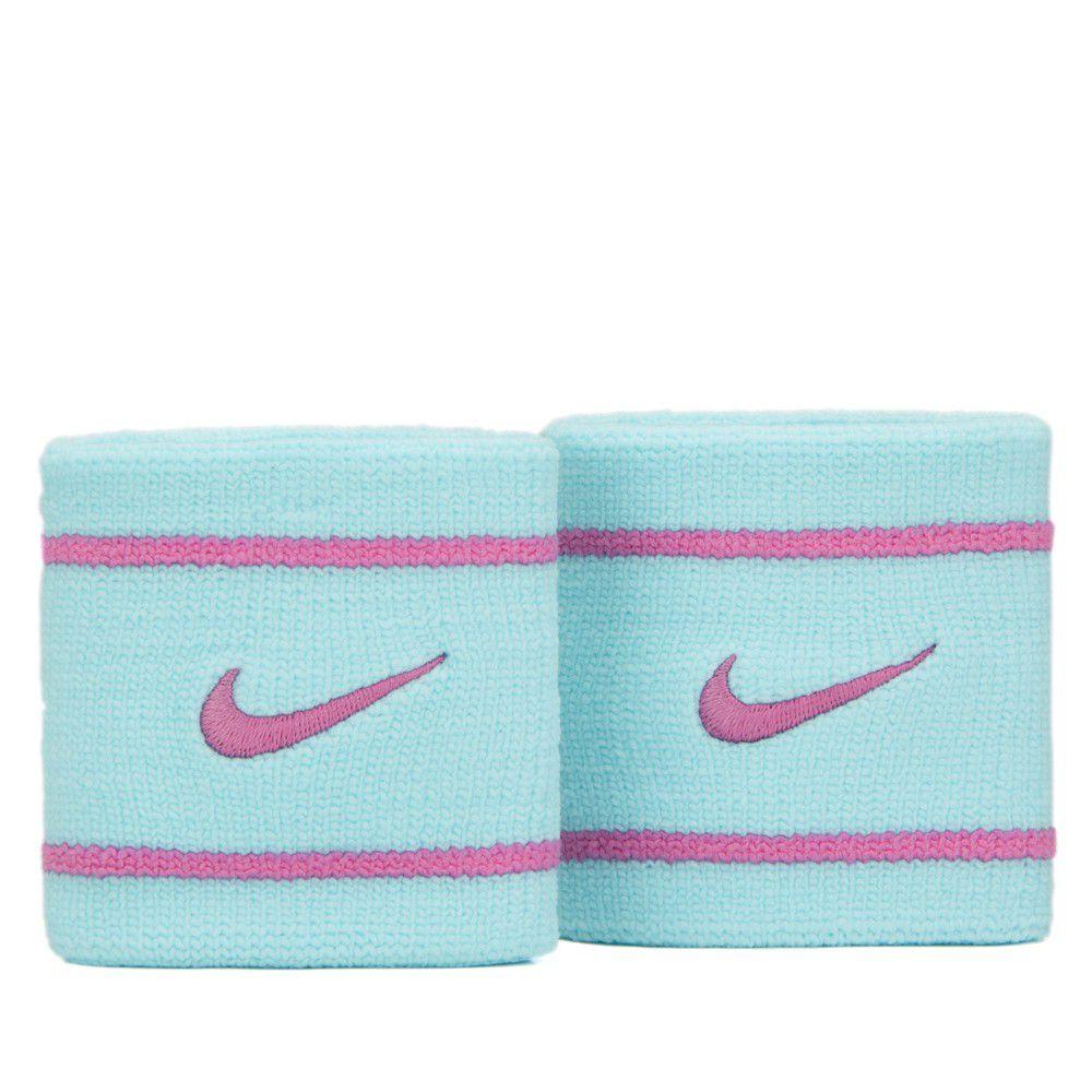 Munhequeira Nike Pequena Dri-Fit Azul e Rosa