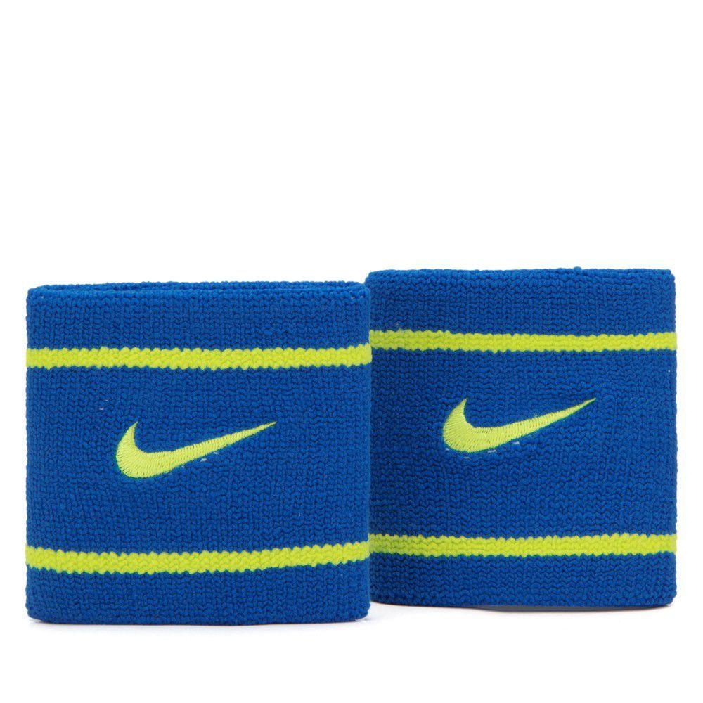 Munhequeira Nike Pequena Dri-Fit Azul e Verde