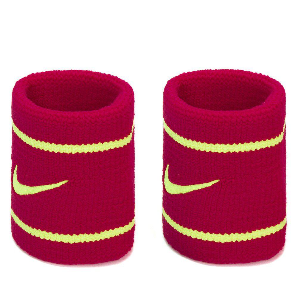 Munhequeira Nike Pequena Dri-Fit Pink e Amarela