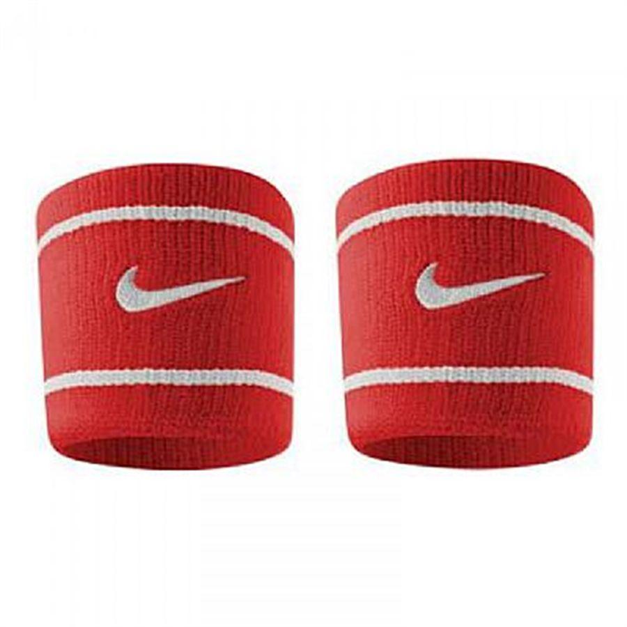 Munhequeira Nike Pequena Dri-Fit Vermelha e Branca