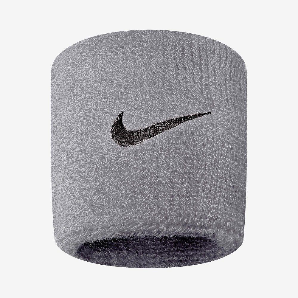 Munhequeira Nike Pequena Swoosh Cinza e Preta