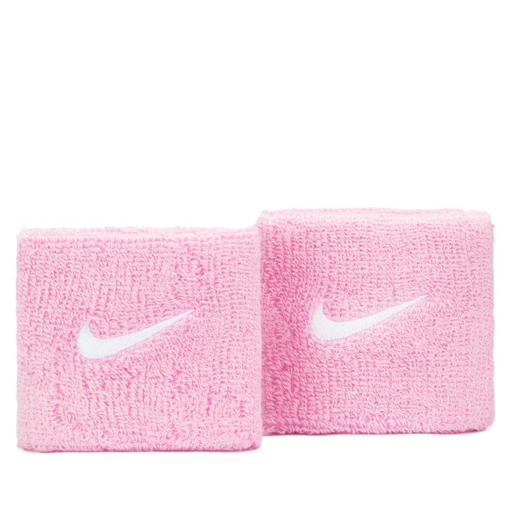 Munhequeira Nike Pequena Swoosh Rosa e Branco