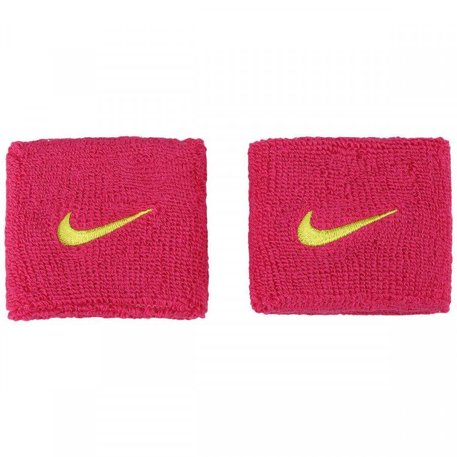 Munhequeira Nike Pequena Swoosh Rosa e Verde