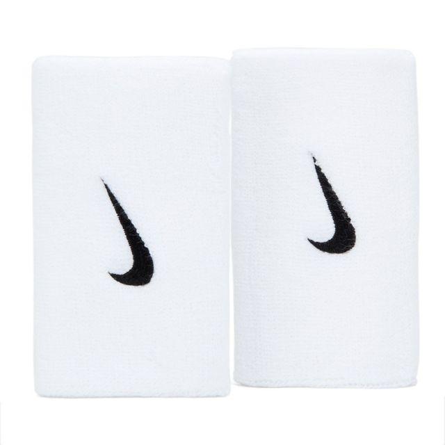 Munhequeira Nike Swoosh Longa Branco e Preto