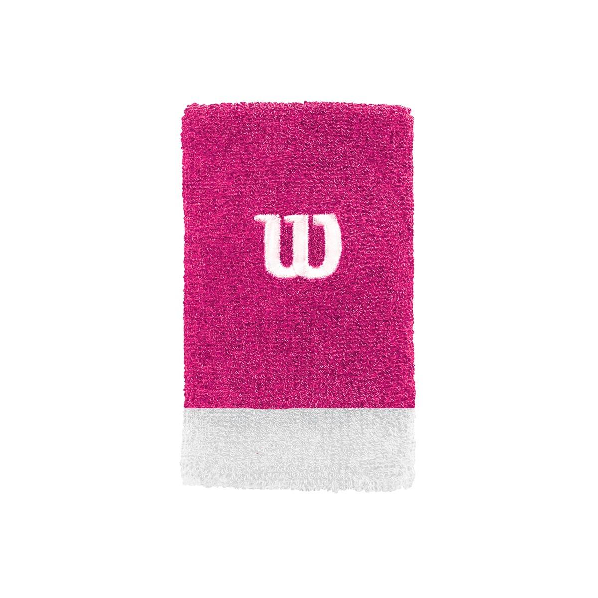 Munhequeira Wilson Grande Pink e Branco Com 02 Unidades