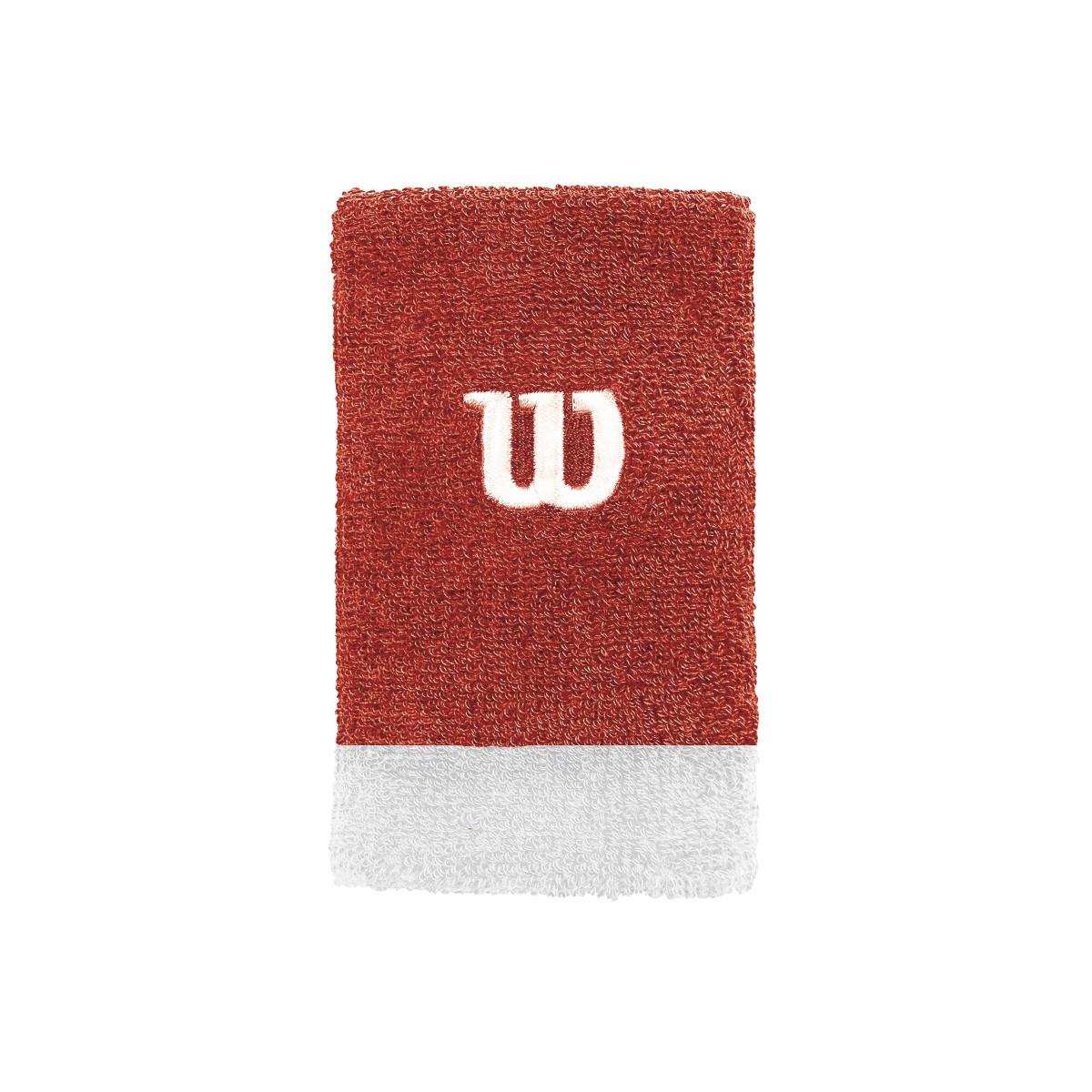 Munhequeira Wilson Grande Vermelha e Branca Com 02 Unidades