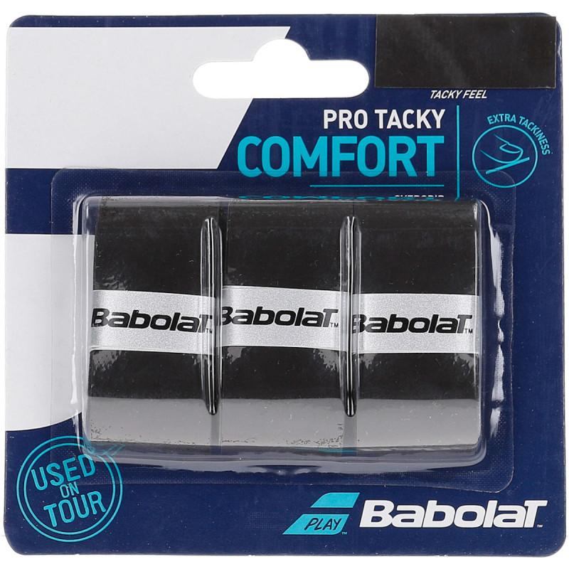 Overgrip Babolat Pro Tacky Comfort Preto Com 03 Unidades
