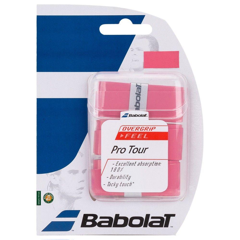 Overgrip Babolat Pro Tour Com 03 Unidades Rosa