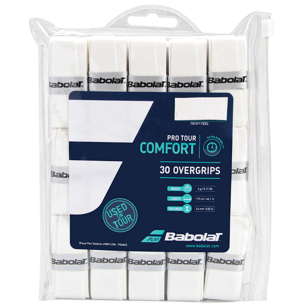 Overgrip Babolat Pro Tour Comfort Branco Com 30 Unidades