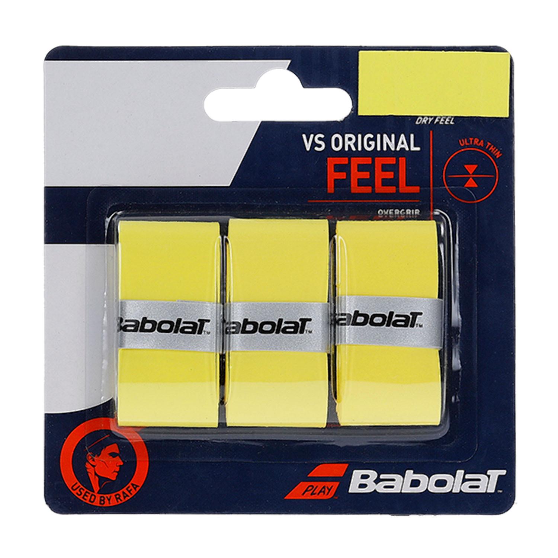 Overgrip Babolat VS Original  Amarelo Com 03 Unidades