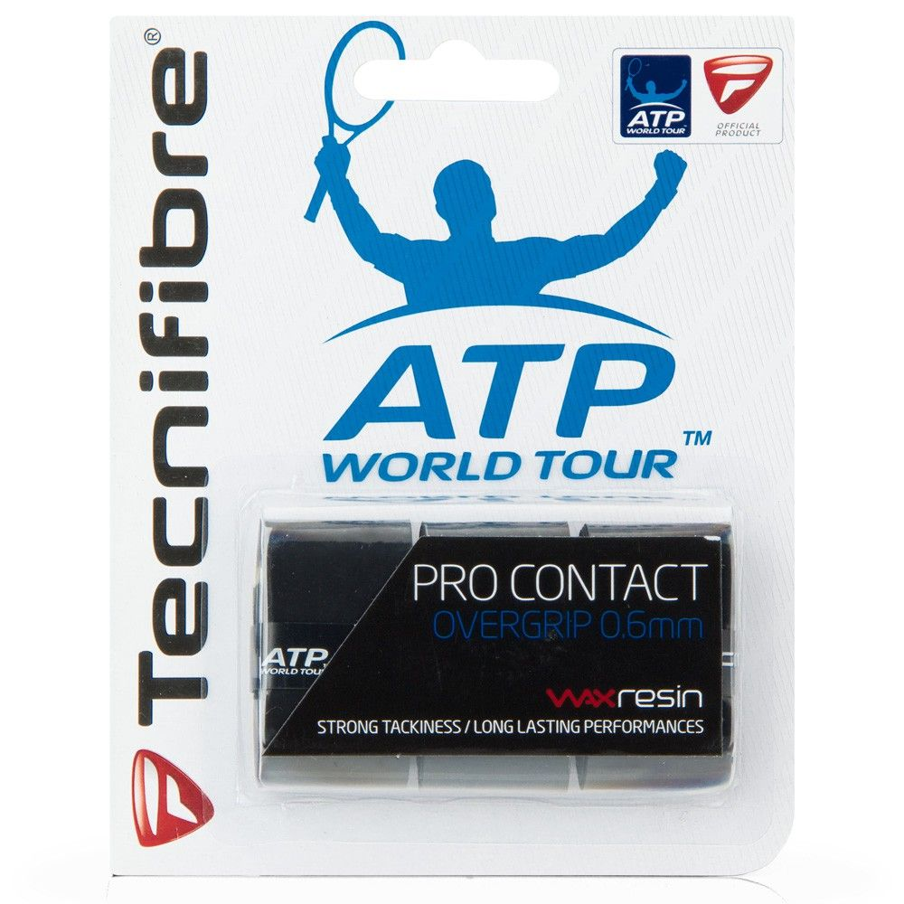 Overgrip Tecnifibre Pro Contact ATP com 03 Unidades Preto