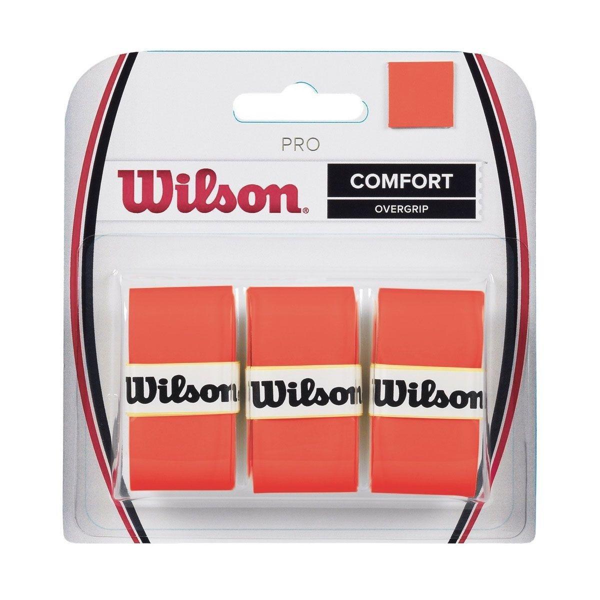 Overgrip Wilson Pro Comfort Laranja Com 03 Unidades