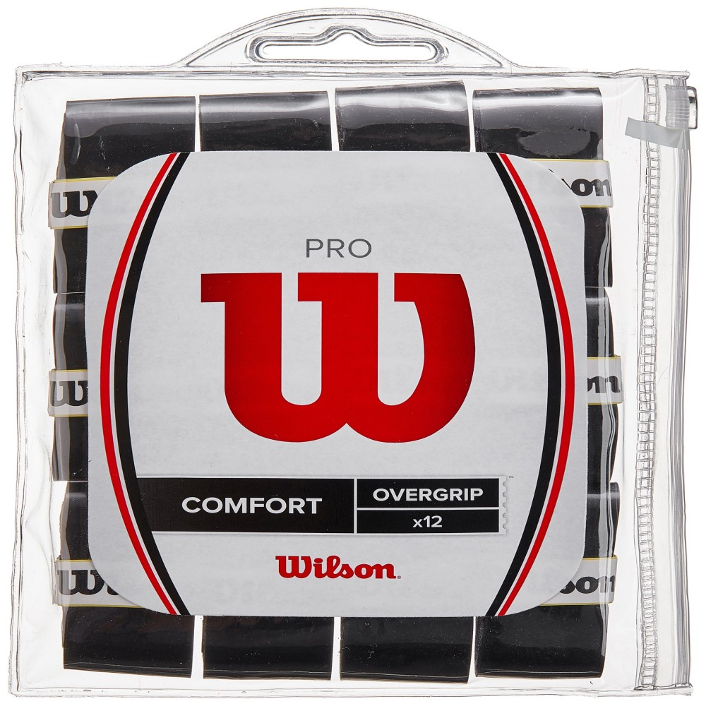 Overgrip Wilson Pro Comfort Preto Com 12 Unidades