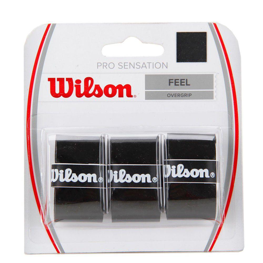 Overgrip Wilson Pro Sensation Preto Com 03 Unidades