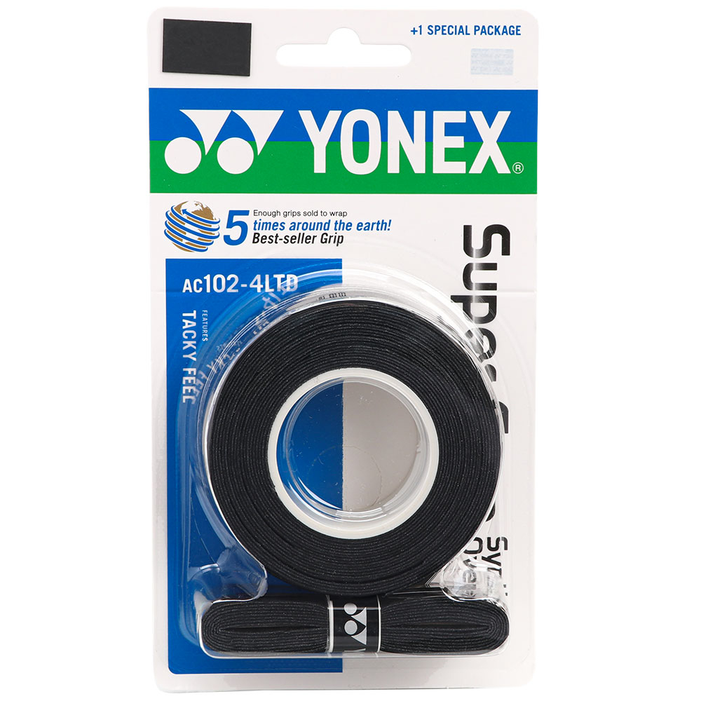 Overgrip Yonex Super Grap Preto Com 04 Unidades