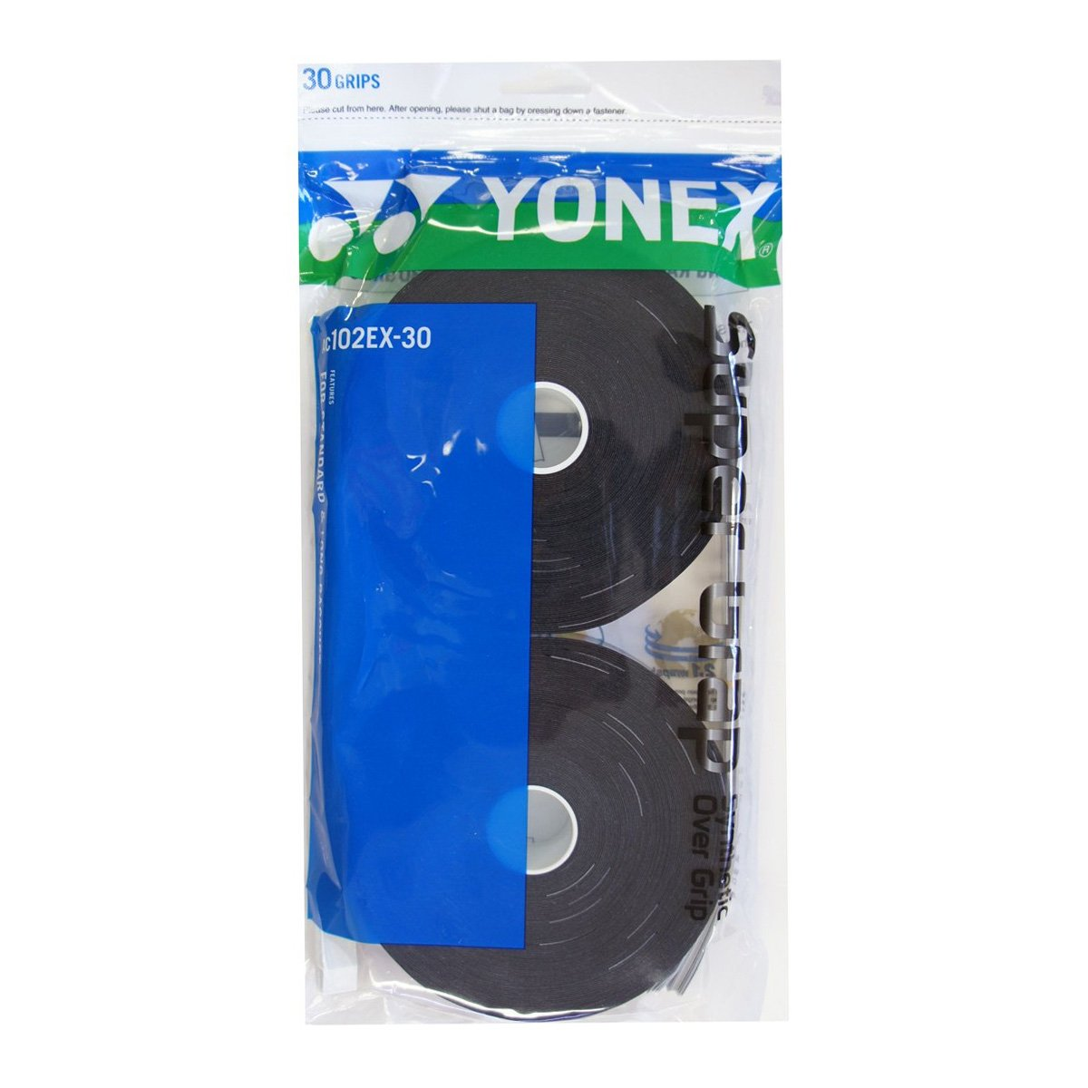 Overgrip Yonex Super Grap Preto Com 30 Unidades