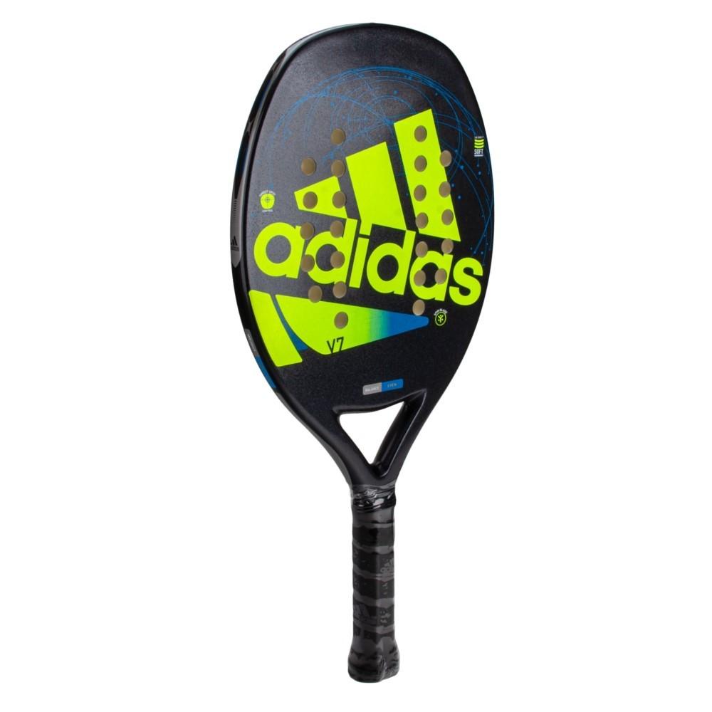 Raquete de Beach Tennis Adidas V7 Preta e Amarelo
