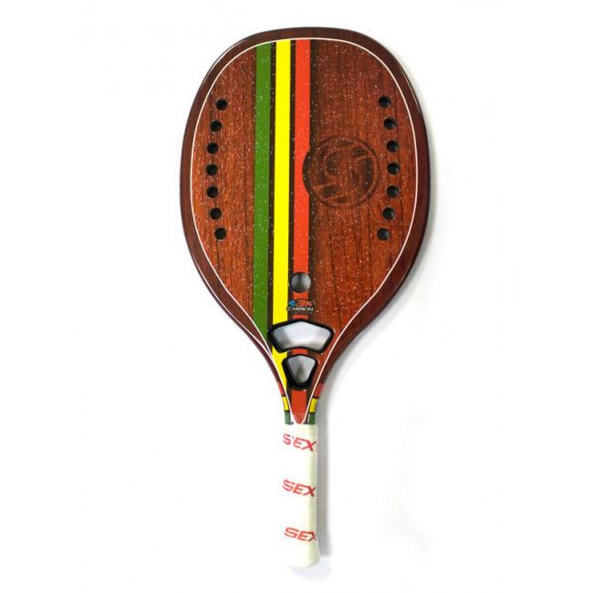 Raquete de Beach Tennis Sexy Rasta Woody Carbon