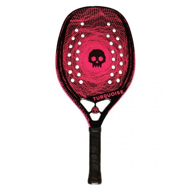 Raquete de Beach Tennis Turquoise Black Death Rosa 2020