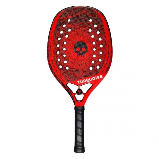 Raquete de Beach Tennis Turquoise Black Death Vermelha 2020