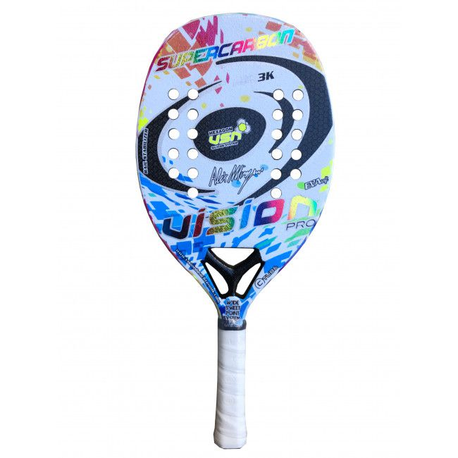 Raquete de Beach Tennis Vision Super Carbon Hexagonal 2020