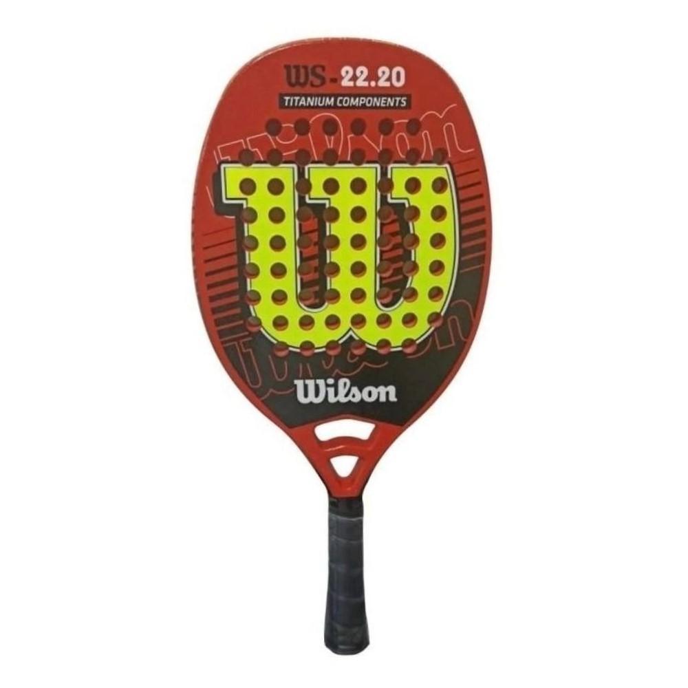 Raquete de Beach Tennis Wilson WS 22.20 Laranja e Amarelo