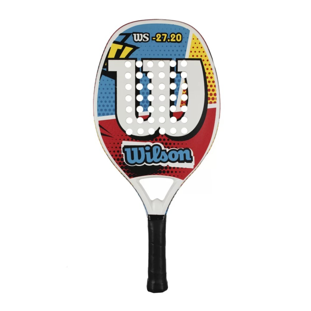 Raquete de Beach Tennis Wilson WS 27.20 Azul e Vermelha
