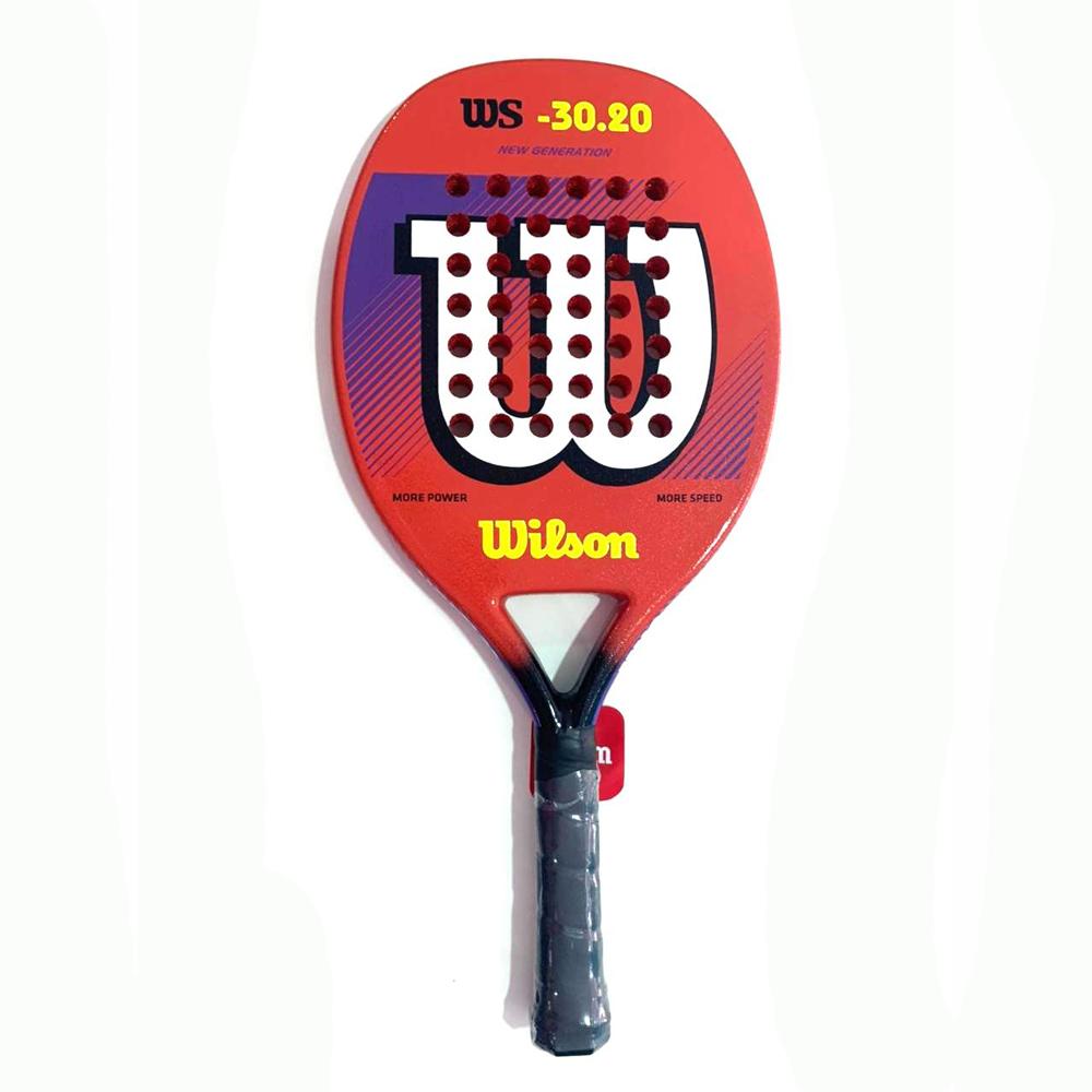 Raquete de Beach Tennis Wilson WS 30.20 Marrom e Branco